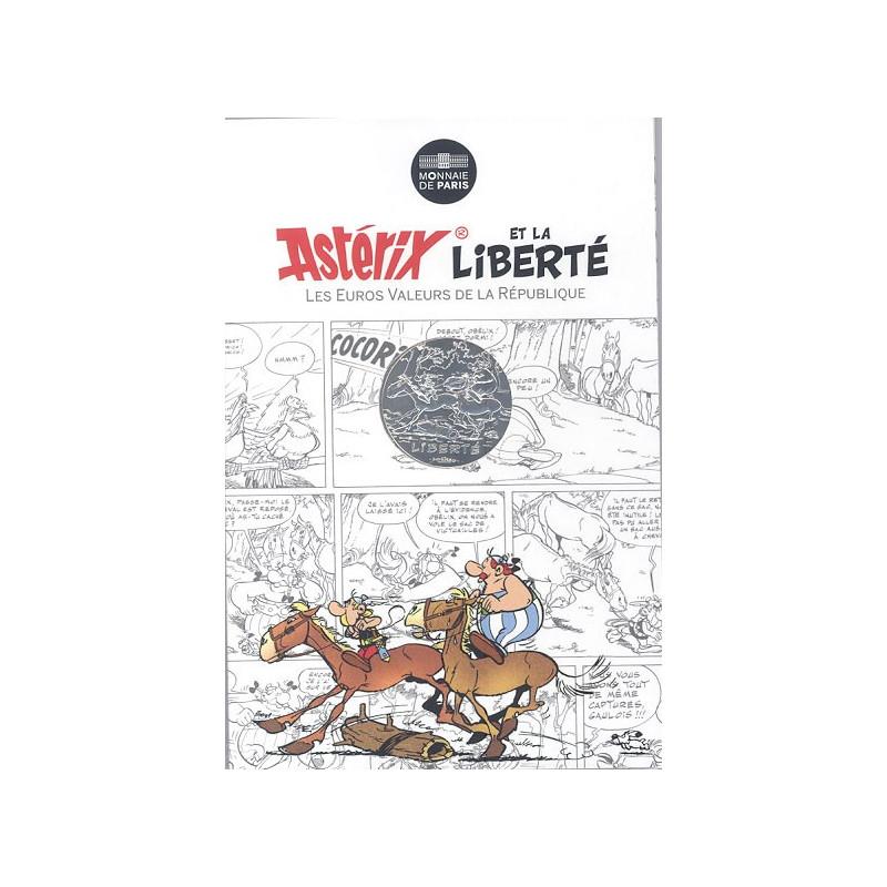 Astérix - Liberté : Astérix et Obélix à cheval 10€ en argent