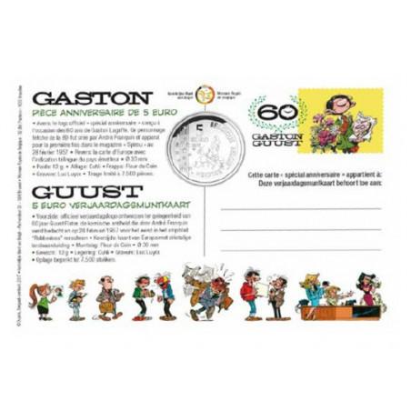 Gaston Lagaffe - pièce de 5€