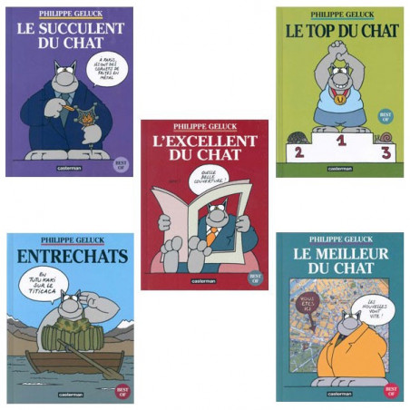 Le Chat - pack collector Best Of (5 albums timbrés)
