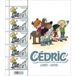Cédric : feuillet de 5 timbres