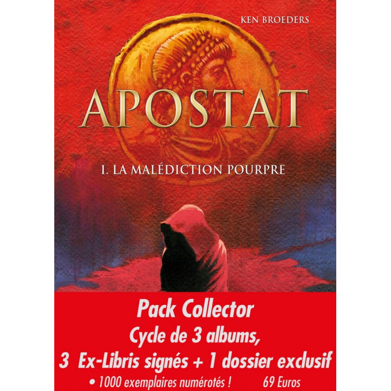 Apostat - pack collector 1er cycle (3 albums + 1 dossier avec ex-libris)