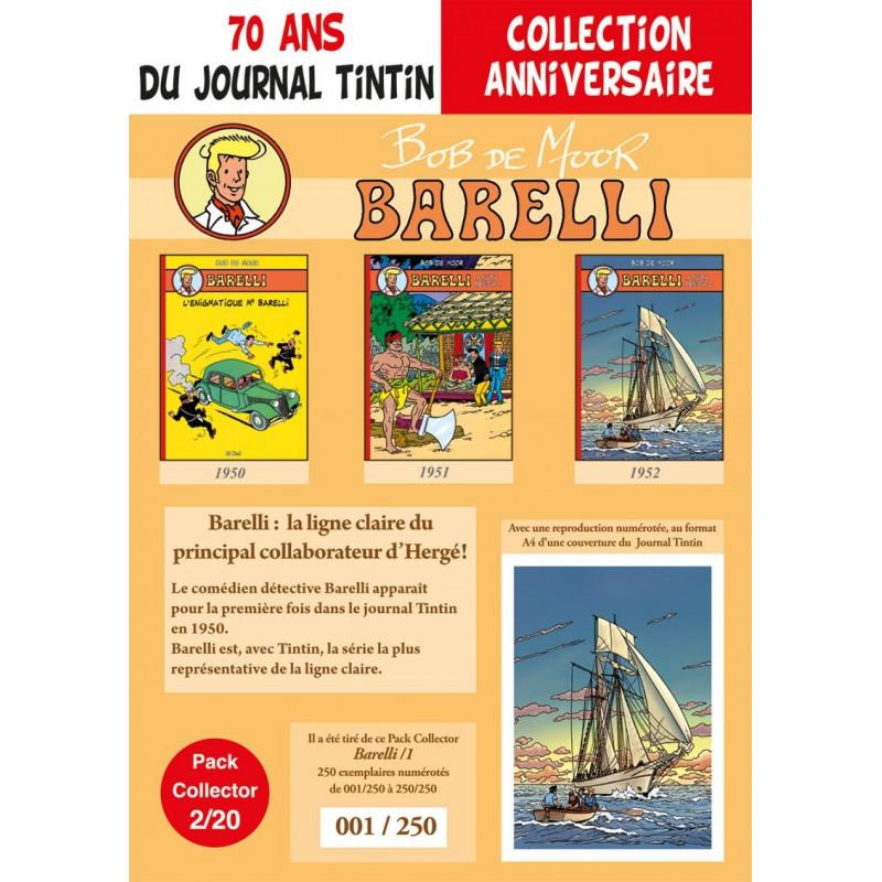 Barelli T1-2-3 - pack 70 ans Journal Tintin 2/20