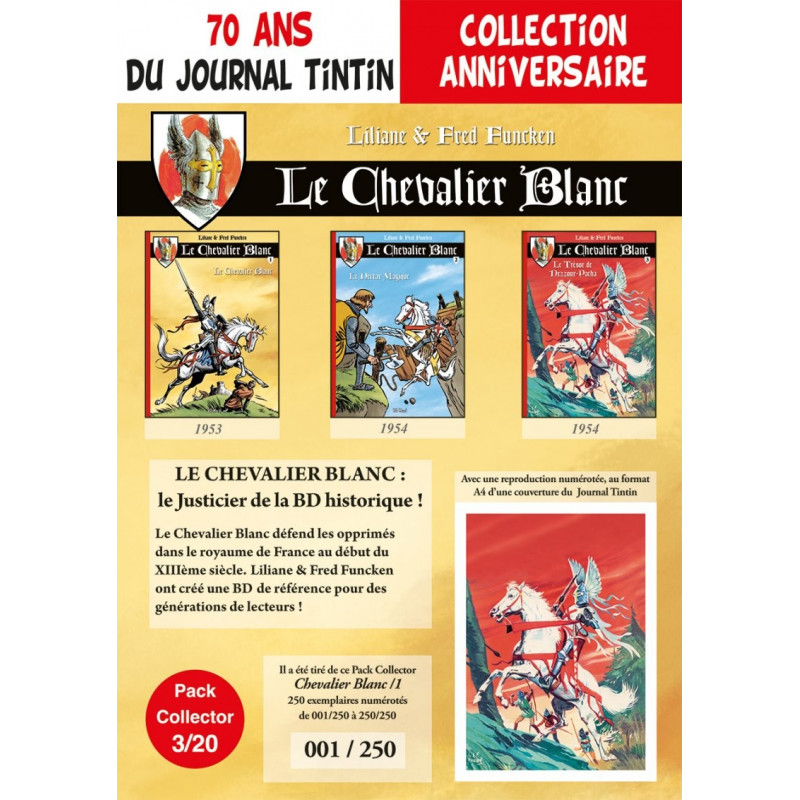 Chevalier Blanc T1-2-3 - pack 70 ans Journal Tintin 3/20