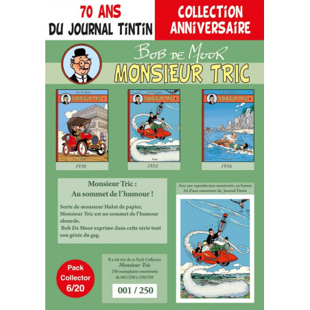 Monsieur Tric T1-2-3 - pack 70 ans Journal Tintin 6/20