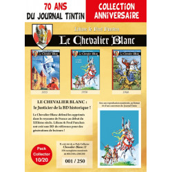 Chevalier Blanc T4-5-6 - pack 70 ans Journal Tintin 10/20