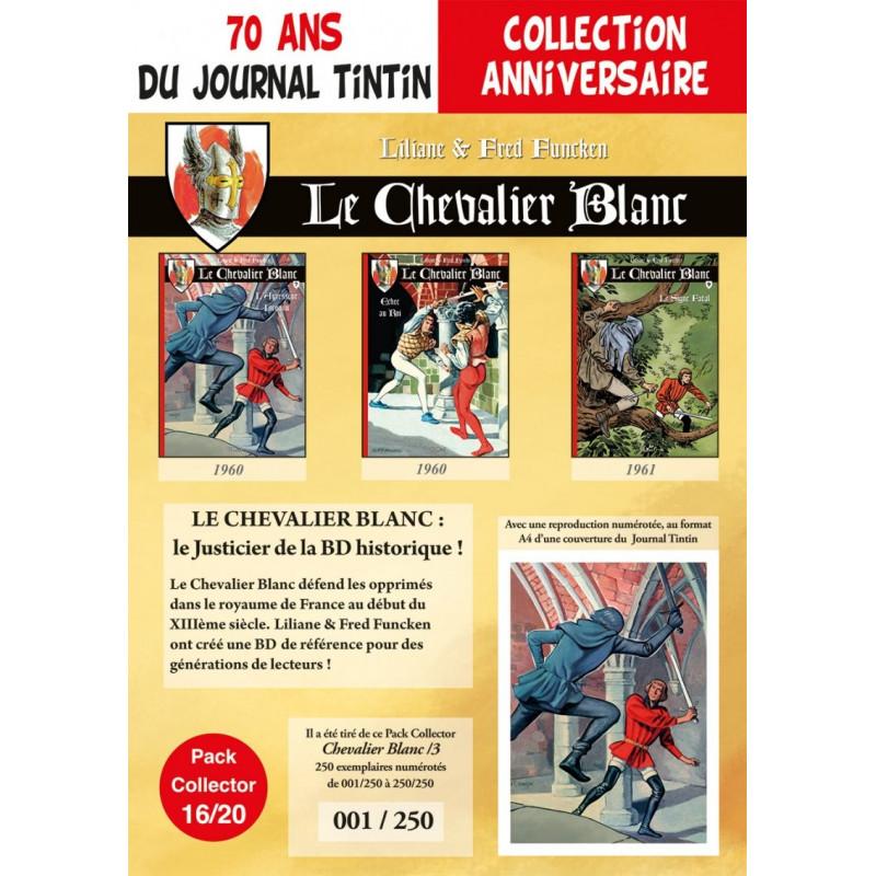 Chevalier Blanc T7-8-9 - pack 70 ans Journal Tintin 16/20
