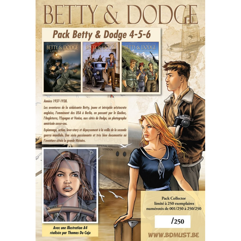 Betty & Dodge T4, 5, 6 - pack collector avec une illu couleur