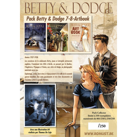 Betty & Dodge T7, 8 - pack collector avec ex-libris + Art Book
