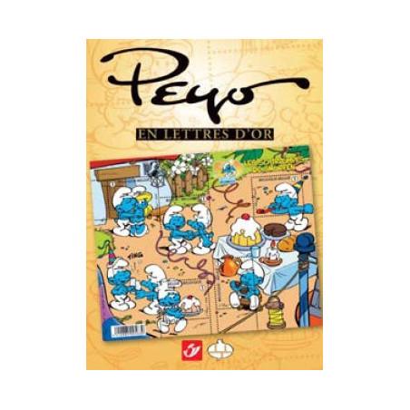 Schtroumpfs : Peyo en lettres d'or (tirage normal)