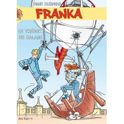 Franka : Le trésor de Salang - Illustration du cartonnage entourant les 2 albums