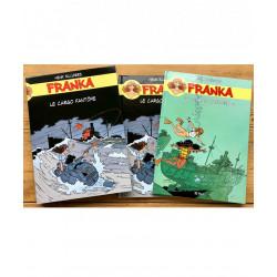 Le cargo fantôme : 2 albums dans un cartonnage illustré (recto/verso)