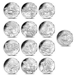 Astérix et les Valeurs de la République : 12 x pièces de 10€ en argent