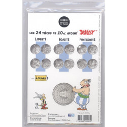Astérix - Egalité : Baffes 10€ en argent, dos cartelette