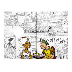 Astérix - Egalité : Cléopatre & César 10€ en argent, intérieur cartelette