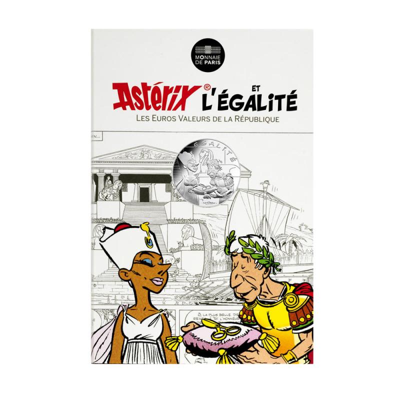 Astérix - Egalité : Cléopatre & César 10€ en argent, cartelette