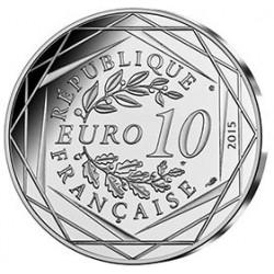 Astérix - Fraternité : Danois, 10€ en argent, côté pile