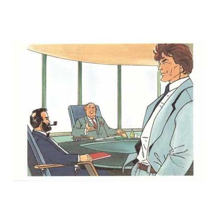Largo Winch : illustration couleur du portfolio Business Blues