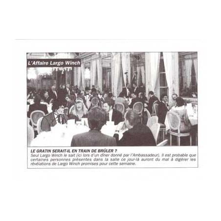 Largo Winch : illustration N&B du portfolio Business Blues