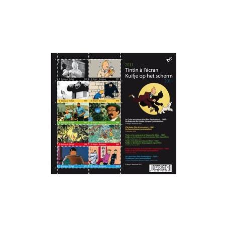 Tintin à l'ecran - Timbres