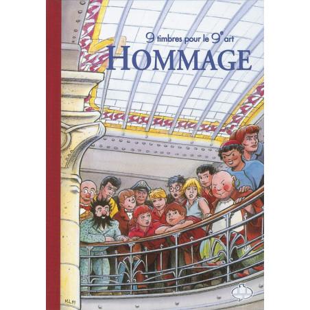 Hommage - 9 timbres pour le 9e Art (Tirage Luxe)