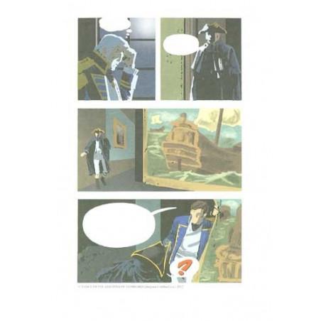 William Vance et la mer : bleu de coloriage planche Howard Flynn