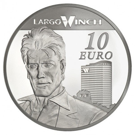 Largo Winch : Pièce de 10 EUR en argent (verso)