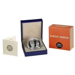 Largo Winch : Pièce de 10 EUR en argent (recto)