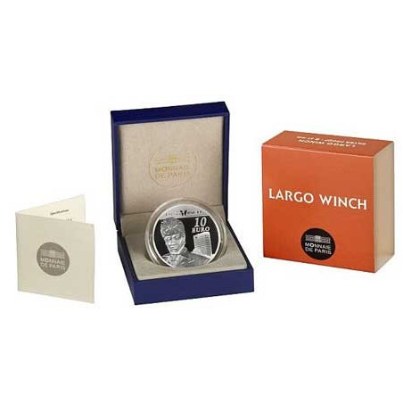 Largo Winch : Pièce de 10 EUR en argent (écrin)